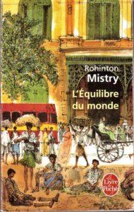L'équilibre du monde de Rohinton MISTRY - couverture du livre