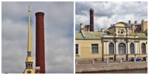 Saint-Pétersbourg Cheminées et Clochers d'église