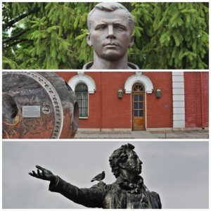 Saint-Pétersbourg - Gagarine et Pouchkine