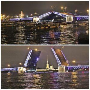 Saint-Pétersbourg Nuit sur la Neva