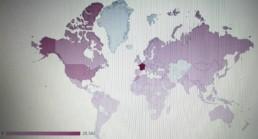 50.000 visites depuis sa création - des visites en provenance de presque tous les pays du monde