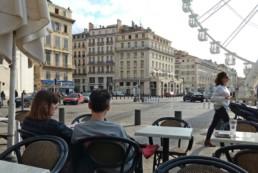 Photo de Marseille, vieux port, comme emblématique de la France