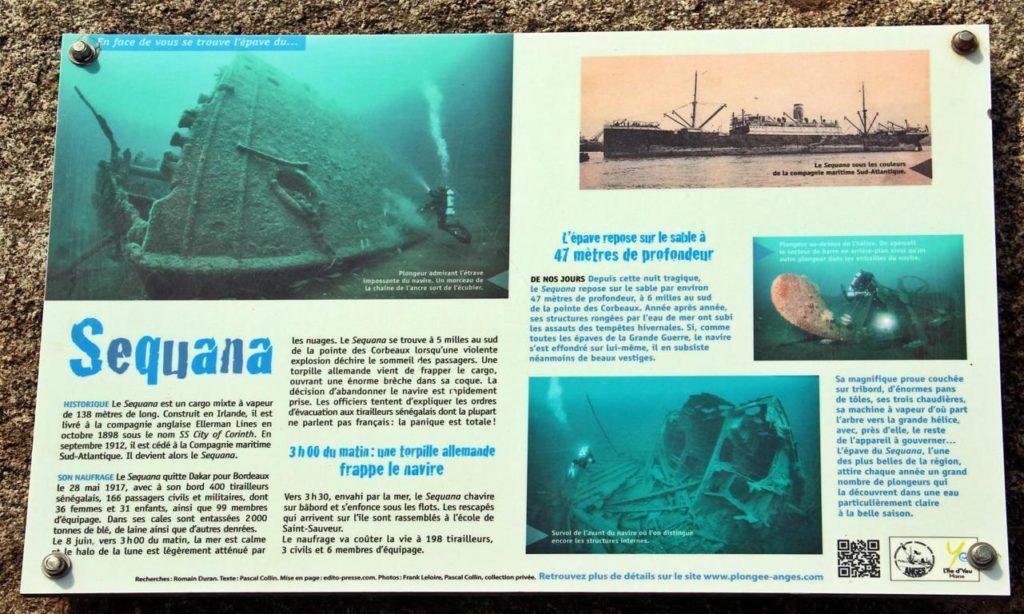 la notice expliquant le naufrage du Séquana