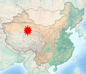Carte de la Chine avec « Lou-Lan »