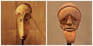Un « masque » ou une « bavette » Masques du Gabon à droite
